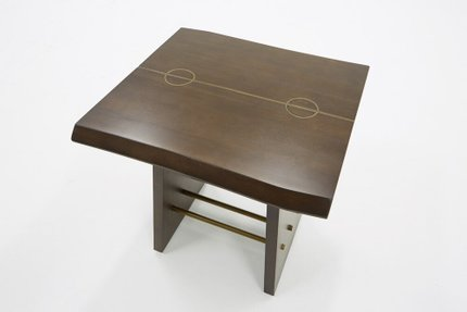 Modrest Selena Modern End Table Acacia & Brass