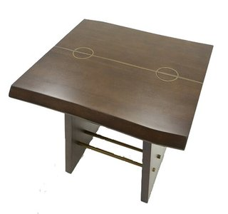 Modrest Selena Modern End Table Acacia And Brass