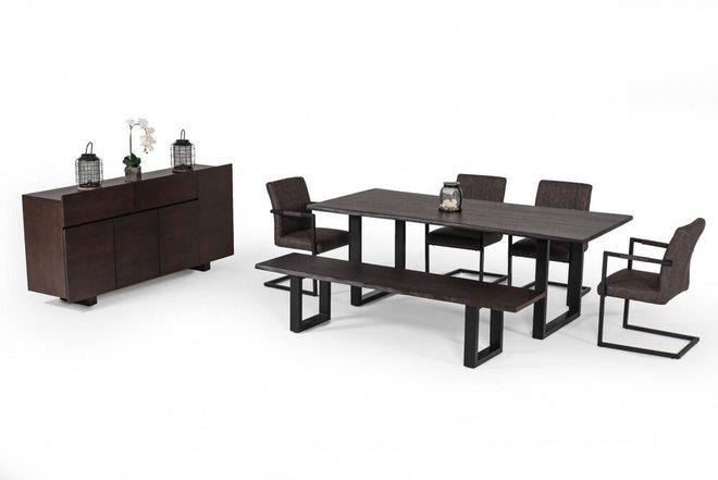 Modrest Leon Live Edge Dining Table Umber Wood