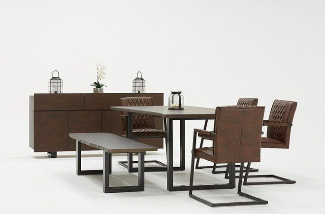Modrest Leon Buffet Umber Wood