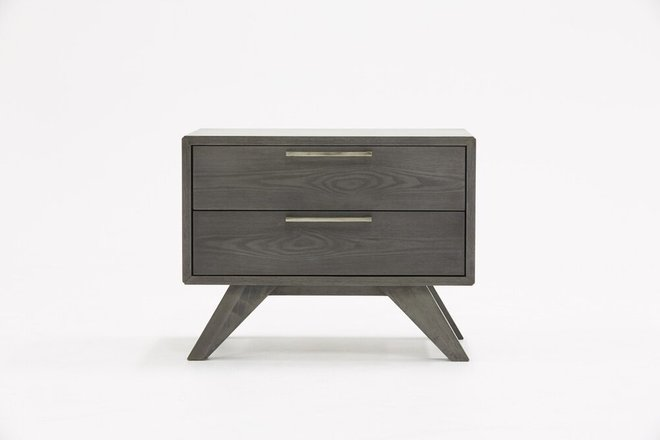 Nova Domus Soria Modern Nightstand Gray Wash