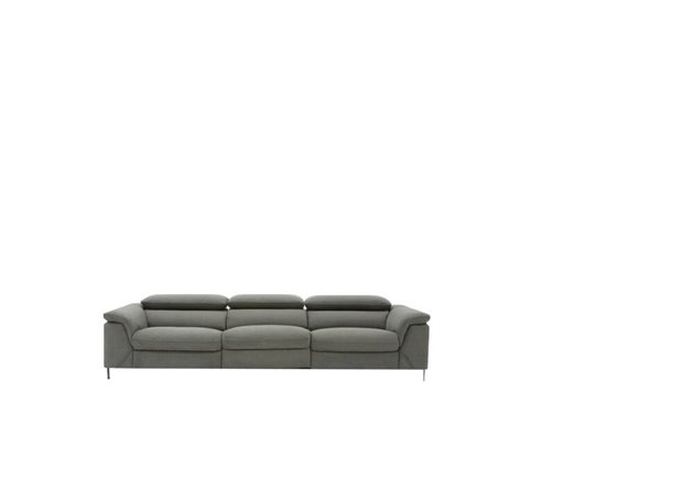 Divani Casa Maine Electric Recliner Sofa Gray Velvet