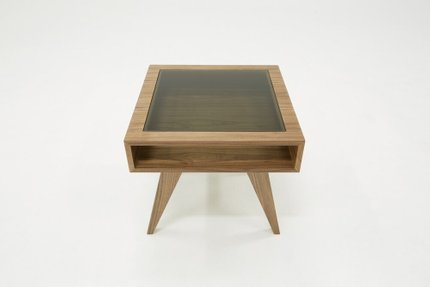 Modrest Dublin Modern End Table Walnut