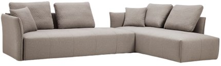 Divani Casa Polson Modular Sectional Sofa Bed Light Gray