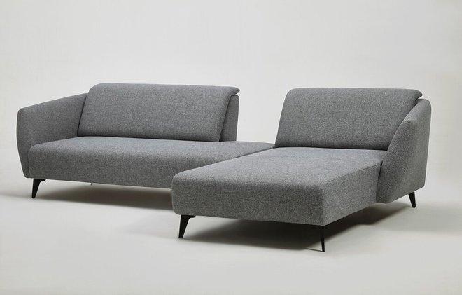Divani Casa Hardin Right Extended Sectional Sofa Gray