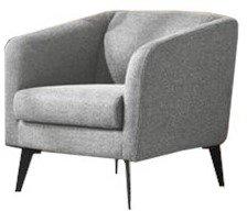 Divani Casa Bannack Modern Lounge Chair Light Gray