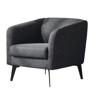 Divani Casa Bannack Modern Lounge Chair Dark Gray