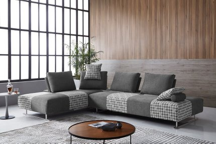 Divani Casa Cooke Reversible Sectional Sofa Bed Gray
