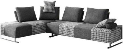 Divani Casa Cooke Reversible Sectional Sofa Bed Gray