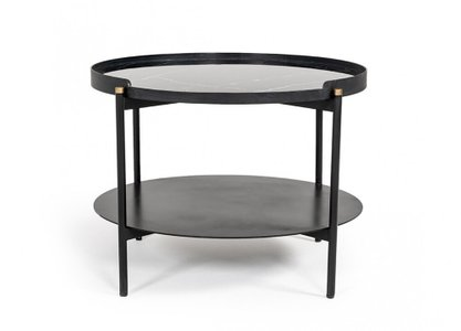 Modrest Randal Round Coffee Table Black