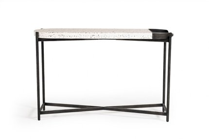 Modrest Gemini Console Table Black and White