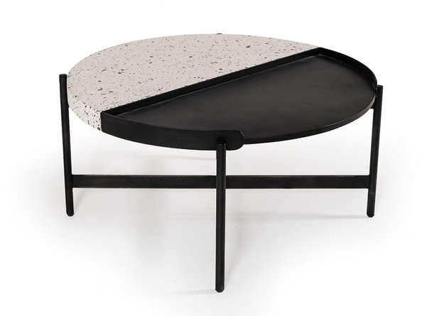 Modrest Gemini Coffee Table Black and White