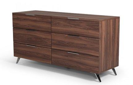 Nova Domus Brooklyn Italian Modern Dresser Walnut