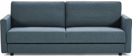 Divani Casa Fredonia Modern Sofa Bed With Storage Blue And Green