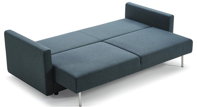 Divani Casa Fredonia Modern Sofa Bed With Storage Blue And Green