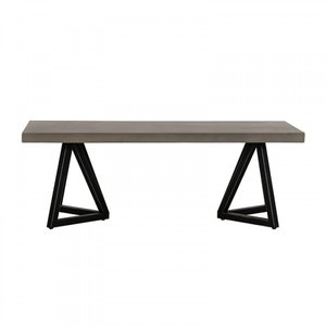 Modrest Richmond Coffee Table Gray And Black
