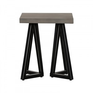 Modrest Richmond End Table Gray And Black