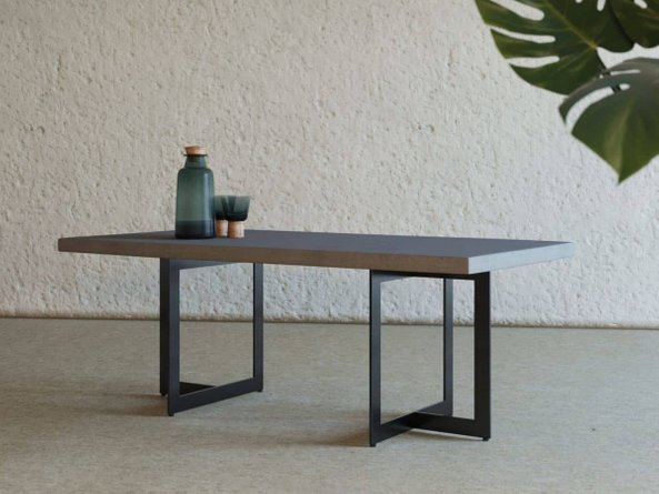 Modrest Sharon Coffee Table Gray And Black