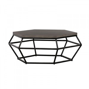 Modrest Tartan Coffee Table Gray And Black