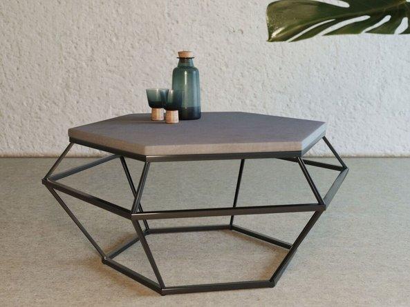 Modrest Tartan Coffee Table Gray And Black