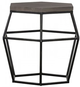 Modrest Tartan End Table Gray And Black