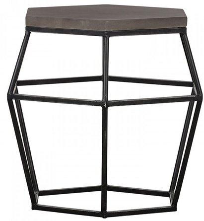 Modrest Tartan End Table Gray And Black