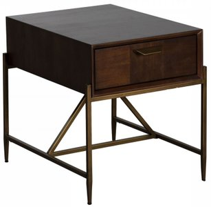 Modrest Shane Modern End Table Dark Mango
