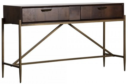 Modern Console Table Dark Mango