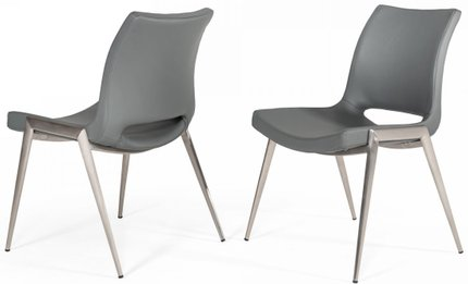 Modrest Jackie Modern Dining Chair Gray (Set of 2)