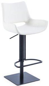 Modrest Niles Modern Adjustable Height Bar Stool White