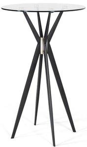 Modrest Kaitlyn Modern Bar Table Clear And Black