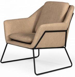 Modrest Jennifer Industrial Accent Chair Taupe