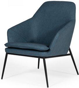 Modrest Esteban Industrial Accent Chair Blue
