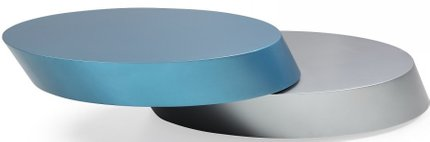 Brillare Coffee Table Blue & Silver