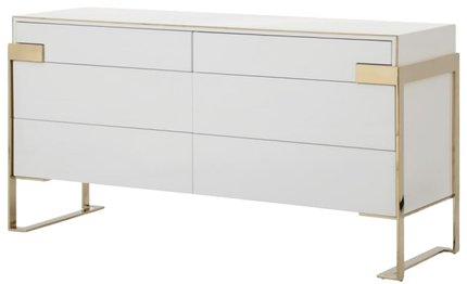 Modern Dresser White And Champagne Gold