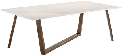 Modrest Jozy Modern Dining Table White And Walnut