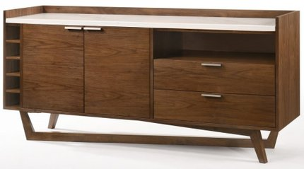 Modrest Jozy Modern Buffet Walnut And White