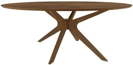 Modern Oval Dining Table Walnut