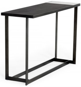 Modrest Fargo Console Table Brushed Bronze And Gray