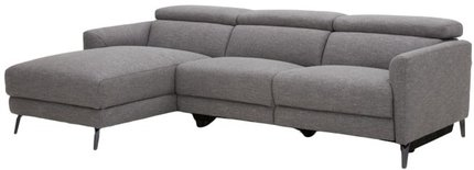 Divani Casa Lupita Modern Sectional with Left Facing Chaise Gray