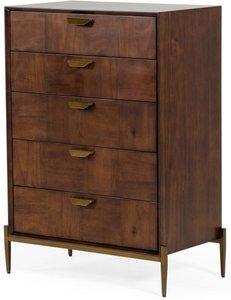 Shane Modern Dresser Dark Mango & Brass