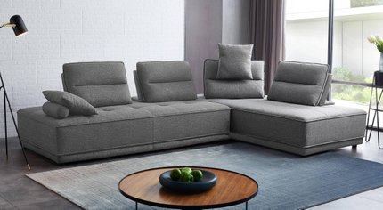 Divani Casa Glendale Sectional Sofa Gray