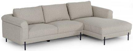 Divani Casa Right Sectional Sofa Beige