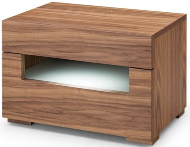 Ceres LED Nightstand Walnut