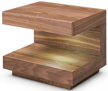 Esso End Table Walnut