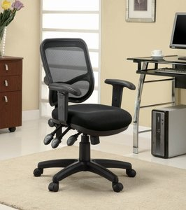 Transitional Office Chair Black