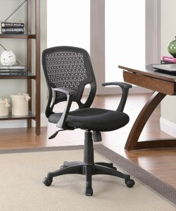 Casual Office Chair Black Mesh