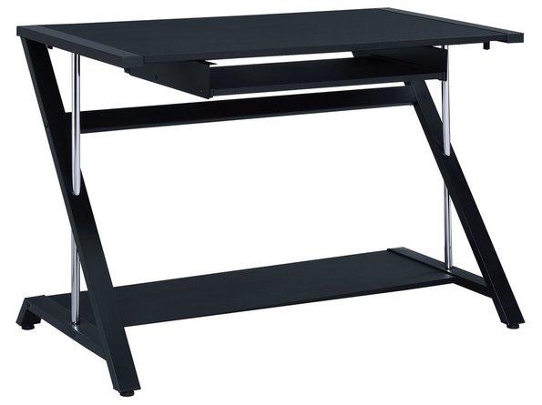 Contemporary Single Seater Computer Desk Black