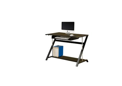 Contemporary Single Seater Computer Desk Black