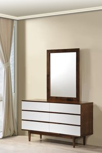 La Double Dresser Walnut & White